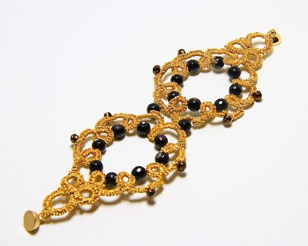 Bracciale chiacchierino fatto a mano agata cristalli gioielli artigianali realizzati a mano a Verona