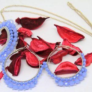 Parure fatta a mano in tessitura di cristalli, gioielli artigianali realizzati a mano a Verona