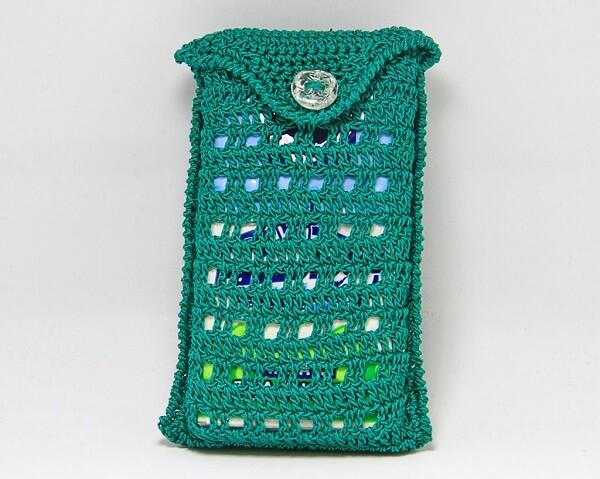 Porta fazzoletti in cotone all'uncineto fatto a mano, decorazioni artigianali realizzate a Verona