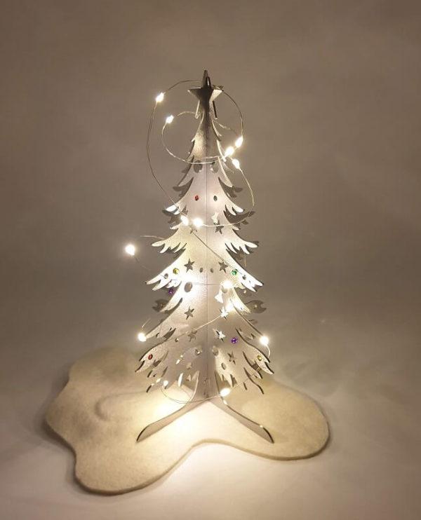Albero di Natale in acciaio inox con luci. Decorazione natalizia Idea regalo Tesori di Estema Verona