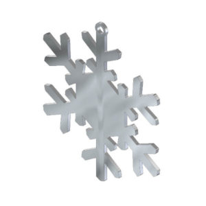 Ciondolo fiocco di neve in acciaio inox. Charms natalizio in metallo per gioielli che decorazioni