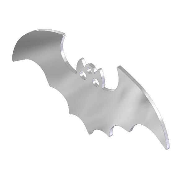 Ciondolo pipistrello in acciaio inox. Charms Halloween in metallo per gioielli che decorazioni
