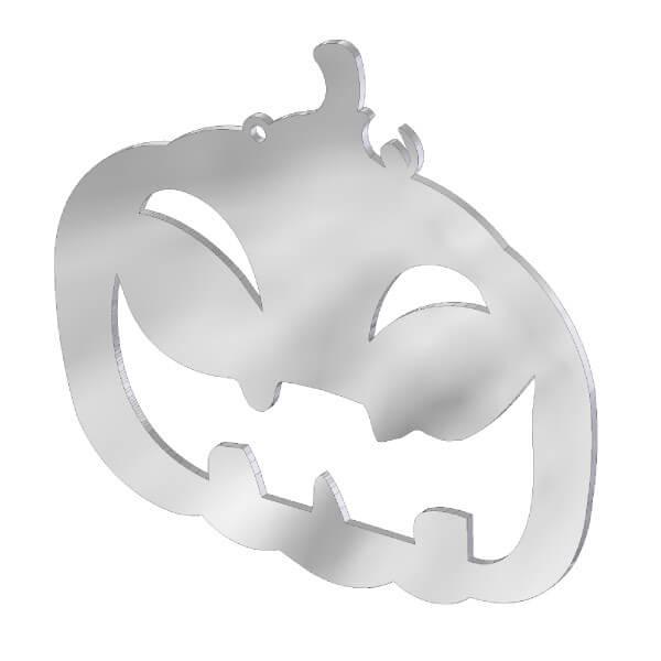 Ciondolo zucca in acciaio inox. Charms Halloween in metallo per gioielli che decorazioni